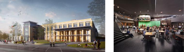 UNT University Union, Denton, Texas – Expansion and Renovation, $128M, Pending LEED Gold/Platinum V 2009, Opening Winter 2015