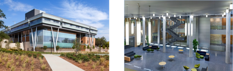 UNT Business Leadership Building, Denton, Texas – 180,000 GSF, $70M School of Business, Received LEED V 2.2 Gold Certification 2011